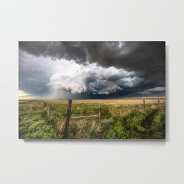 Aquamarine - Storm Over Colorado Plains Metal Print