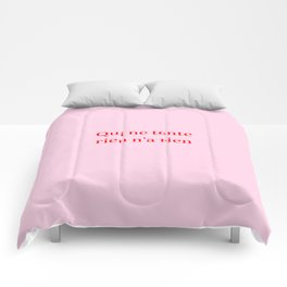 no pain no gain Comforters
