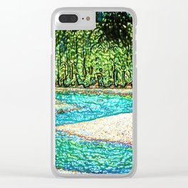 A River Through the Trees Clear iPhone Case