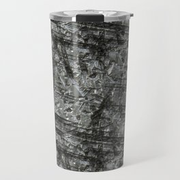 Gouged Stainless Texture Travel Mug