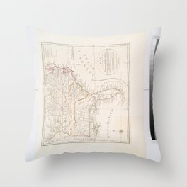 A map of the states of Virginia, North Carolina, South Carolina and Georgia  -  comprehending the Spanish provinces of east and west Florida  -  exhib Throw Pillow