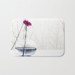 red flower Bath Mat
