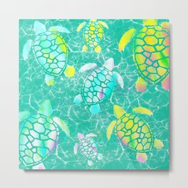Turtle Paradise Metal Print
