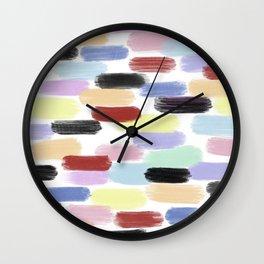 Pretty Primaries Wall Clock