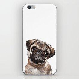 The Melancholy Pug iPhone Skin