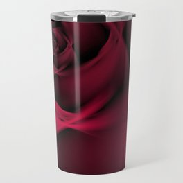 Abstract Rose Burgundy Passion Travel Mug