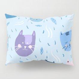 Little blue cats Pillow Sham