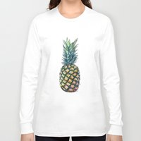 pineapple Long Sleeve T-shirts featuring Pineapple by Michaela Ramstedt