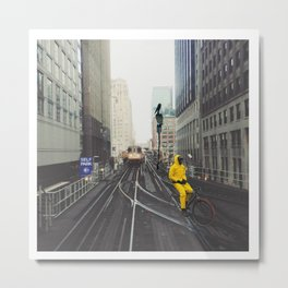 Can't Be Bothered Metal Print