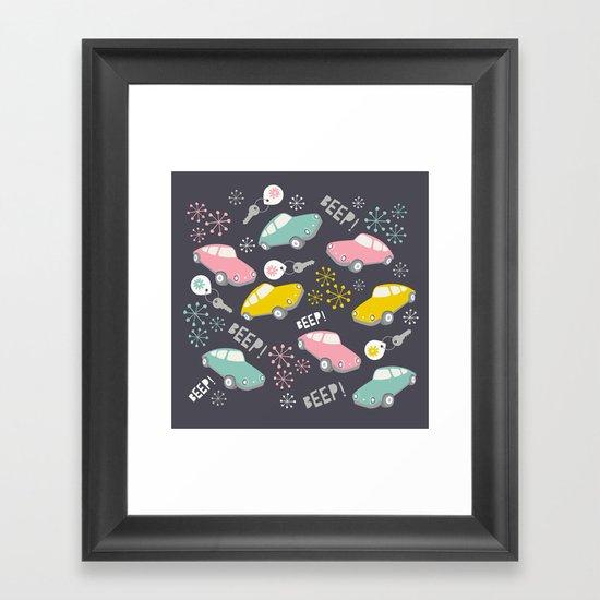 Beep! Beep! Framed Art Print