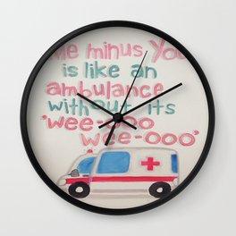 Wee-Ooo  Wall Clock