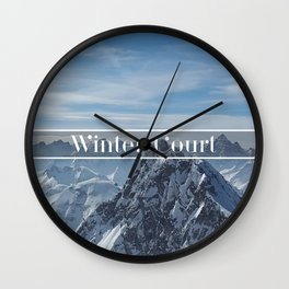 Winter Court Wall Clock