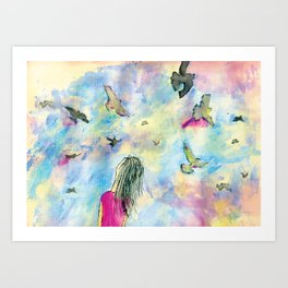 I wish I knew how it would feel to be free Art Print