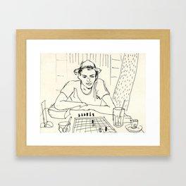 Chess player Framed Art Print