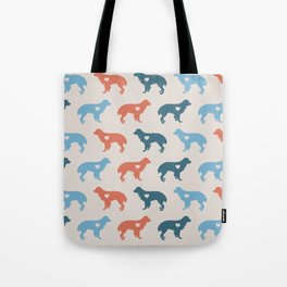 Valentine's dog surface pattern (red-blue small) Tote Bag