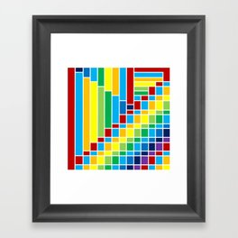 Fuzz Outline Framed Art Print