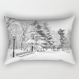 New York City Winter Trees in Snow Rectangular Pillow