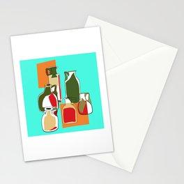 Retro glass bottles Stationery Cards