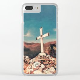 The Hilltop Cross Clear iPhone Case