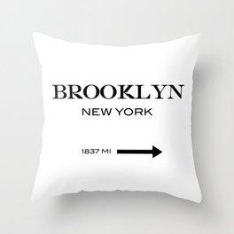 Brooklyn - New York Throw Pillow