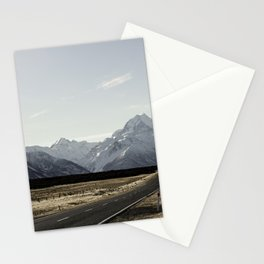 On the road to Mt. Cook Stationery Cards