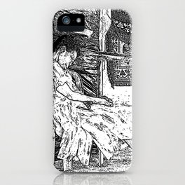 Sleeping Lady iPhone Case