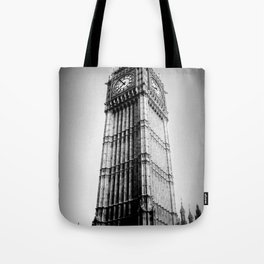 Ben looms in black and white, too. Tote Bag