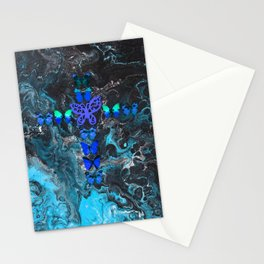Turquoise Fire Cross Stationery Cards