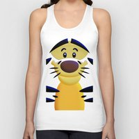 cartoons Tank Tops featuring Cute Orange Cartoons Tiger Apple iPhone 4 4s 5 5s 5c, ipod, ipad, pillow case and tshirt by Three Second