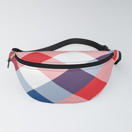 Blue & Red Square Combination 3 Fanny Pack
