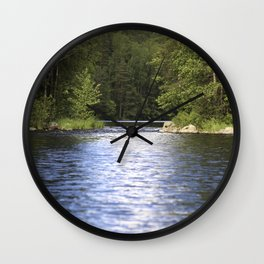 Relaxing View To The Lake Wall Clock