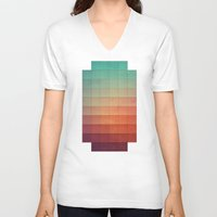sunset V-neck T-shirts featuring cyvyryng by Spires
