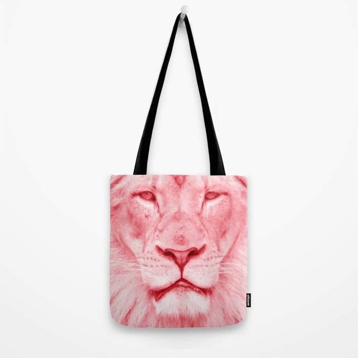 Pink lion Tote Bag