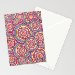 Pink Mandala Hippie Pattern Stationery Cards