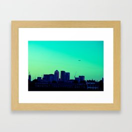View towards Canary Wharf Framed Art Print