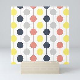 Colorful circles and stripes Mini Art Print