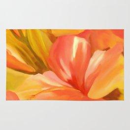 hibiscus flower-Oil painting Rug