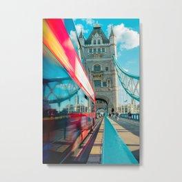 Double exposure - London Metal Print