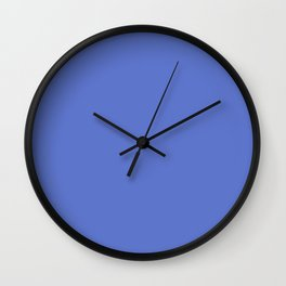From The Crayon Box – Indigo Blue Solid Color Wall Clock