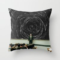 study Throw Pillows featuring study by Ashley Moye