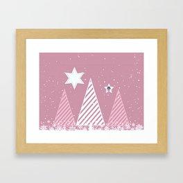 Stars forest Framed Art Print