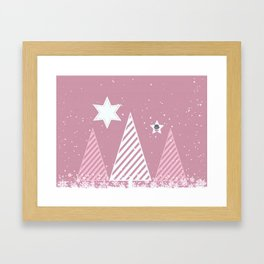 Stars forest Framed Art Print