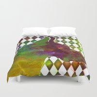 great dane Duvet Covers featuring Great Dane Jester by Erin Conover