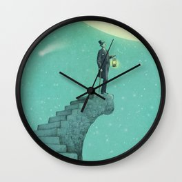 Moon Steps Wall Clock