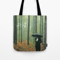 suits Tote Bags featuring Trees In Suits by Matt(ikus)