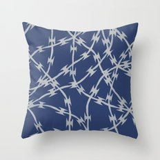 Trapped Navy Throw Pillow