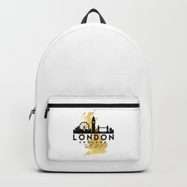 LONDON ENGLAND SILHOUETTE SKYLINE MAP ART Backpack