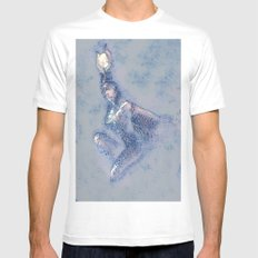 Isis sketch and wash Mens Fitted Tee MEDIUM White