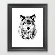 Wolf Eyes Framed Art Print
