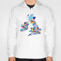 scotland Hoodies featuring England, Ireland, Scotland & Wales by Project M